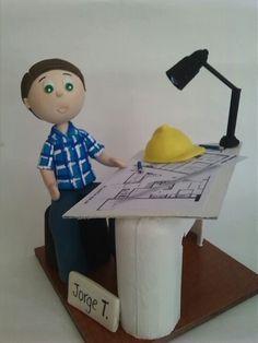 Arquitecto, Ingeniero ... Engineering Cake, Ballerina Cakes, Doughnut Cake, Cake Shapes, Rubber Doll, Ideas Para Fiestas, The Magicians, Amazing Cakes, Party Planning