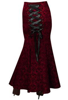 Jacquard Gothic Long Fishtail Skirt