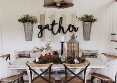 Gather Word Wood Cut Wall Art Sign Home Business Kitchen Dining Room Decor - Diy Dining Room Remodel, Farmhouse Dining Room, Home Bedroom, Kitchen Decor, Cheap Home Decor, Home Decor, Home Decor Wall Art, Dining Room Decor, Modern Farmhouse Decor