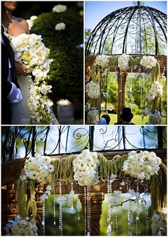 white dramatic wedding flowers/Ultimate dream French castle for a fairytale wedding