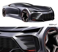 its here Chevy Nova 2030 ! Camaro Concept, Concept Cars, Car Design Sketch, Car Sketch, Hover Car, Mexico 2018, Flying Vehicles, Cool Sports Cars, Lamborghini Cars