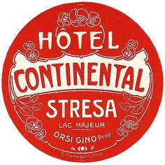 Stresa - Hotel Continental by Luggage Labels