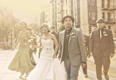 San Francisco Speakeasy themed wedding....how fun would this have been????