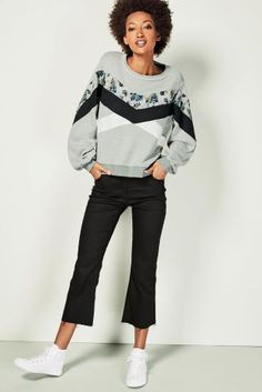 Buy Floral Spliced Sweat Top from the Next UK online shop