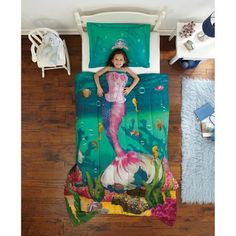 Dream Big Sea Princess Twin Mini Bedding Comforter Set