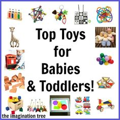 Top Toy List for Babies and Toddlers! Over 50 fantastic, good quality resources that promote open-ended play and creativity! Pin this for handy reference later!