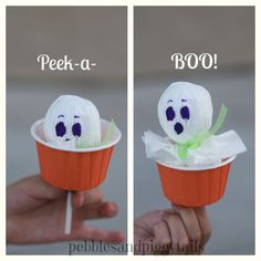 how to make peek-a-boo lollipop tissue ghosts