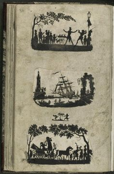 Silhouette page from a scrapbook by Hans Christian Anderson and Adolph Drewsen 1862