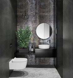 31 Inspiring Black Powder Room Design Ideas With Modern Style Powder Room Decor, Powder Room Design, Bad Inspiration, Bathroom Inspiration, Bathroom Ideas, Bathroom Renovations, Bathroom Designs, Remodel Bathroom, Funny Bathroom