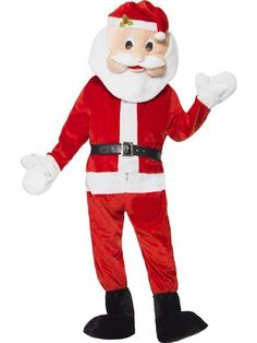 Become a merry mascot in our Santa Mascot Costume