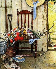 Norman Rockwell flowers - one of my favorites