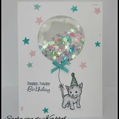 A perfect shaker card for your friend on his/her special day. A perfect shaker card for your friend on his/her special day. Creative Birthday Cards, Kids Birthday Cards, Handmade Birthday Cards, Creative Cards, Diy Birthday, Birthday Gifts, Homemade Birthday, Card Birthday, Special Birthday