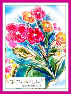 """Floral Greeting Card Set (3) Blank 5"""" x 7"""" """"Summers End"""" w/ Mixed Color Envelopes"""