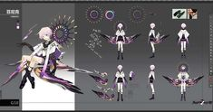 Character Sheet, Game Character, Character Concept, Concept Art, Fantasy Characters, Anime Characters, Anime Weapons, Artwork Images, Character Costumes