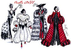Cruella de Vil collection by Hayden Williams. #SpotonDahling #ILiveforFur #FurociouslyFabulous & #RevengefulinRed
