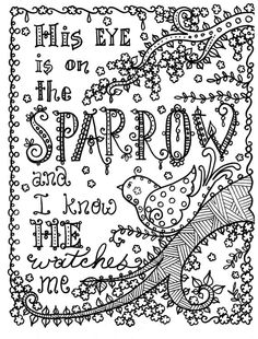 Sparrow Bible Coloring PagesAdult