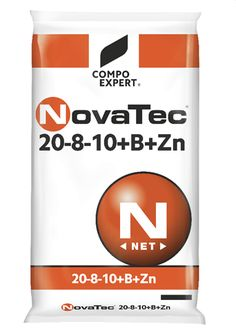 NovaTec  20-8-10+B+Zn  Σύνθεση: 20% N (9% νιτρικό και 11%αμμωνιακό), 8% P2O5, (υδατοδιαλυτός 5,5%), 10%K2O υδατοδιαλυτό ,2% MgO, 5% SO3  Ιχνοστοιχεία: 0,06%B, 0,01% Zn.  Συσκευασίες: σάκοι των 40 και 25 κιλών.