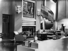 What Is Art Deco Style? You see Art Deco this and Art Deco that and wonder if those items are being described correctly. Learn how to correctly identify Art Deco. Art Deco Decor, Casa Art Deco, Arte Art Deco, Art Deco Era, Art Deco Design, Set Design, Design Ideas, Decoration Design, Design Trends