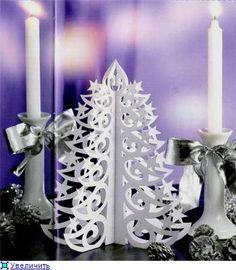 Поделки из бумаги новогодняя елка картинки