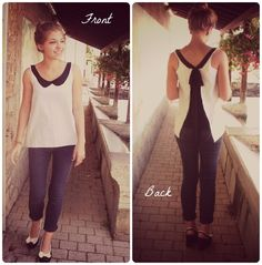 Tutorial: Open back summer top with a Peter Pan collar