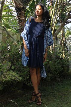 Indigo. Blue. Batik. Blue Dress. Lunch date, dinner date