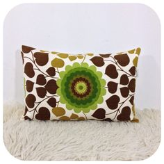 Lumbar Pillow Cover Vintage Fabric 12 x 18 by Retro68 on Etsy