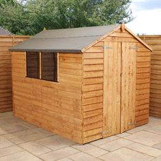 winchester 8ft x 6ft 240m x 190m overlap apex shed next day - Garden Sheds 6 X 2