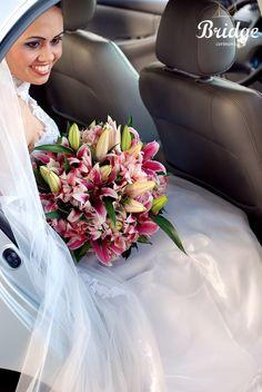 Buquê em tons de rosa! Este foi o da Ana Paula Leal, assessora de eventos da Bridge Cerimonial (Foto: Renata Paschoal)