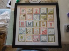 A sampler frame for my new niece made from mostly Stampin' Up stamps