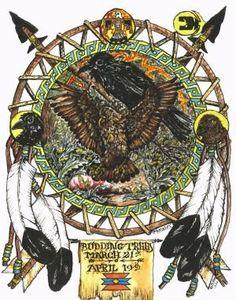 Hawk Totem Animals, Budding Trees Moo…