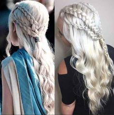 Daenerys Targaryen, mejor conocida como Khaleesi, tiene un estilo de cabello súper envidiable que fusiona lo simple, elegante y heroico magnificamente. Es por eso que no podríamos culpar a la mujer de la derecha por copiar casi a la perfección el peinado.