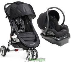 Baby Jogger City Mini Travel System with Maxi-Cosi Mico AP Infant Car Seat, Black