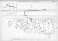 137 Architecture Visualization, Architecture Details, Classical Interior Design, Fireplace Drawing, Chair Drawing, Wood Carving Designs, Exterior Trim, Wood Detail, Architectural Elements
