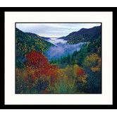 Found it at Wayfair - Landscapes 'Foggy Valley, Smokey Mountains' by Adam Jones Framed Photographic Print