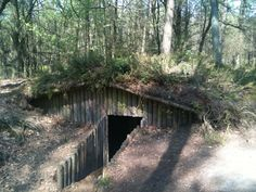 Reconstruction of an underground hut in Vierhouten, Holland, where people hid from the Germans. Discovering this place inspired me to write The Hidden Village