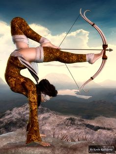 I plan on learning archery, and deepening my practice in yoga…so add this sweet move to the bucket list, eh? Art Photography, Street Photography, 3d Fantasy, Bow Arrows, Parkour, Geisha, Urban Art, Martial Arts, Street Art