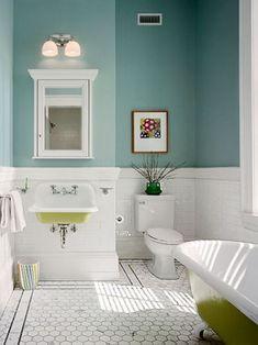 Die 55 besten Bilder von Badezimmer im Vintage- und Retro-Stil in ...