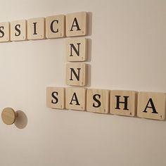 Jessica jappont a ajouté une photo de son achat Deco Scrabble, Scrabble Letras, Giant Letters, Silicone Glue, Thing 1, Smooth Walls, Raw Wood, Box Frames, Decoration