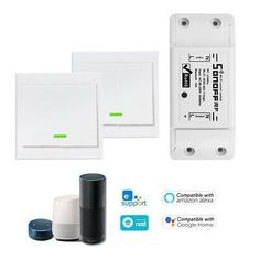 5PCS SONOFF Basic 10A//2200W WiFi Smart Voice Control Switch for Home Appliances