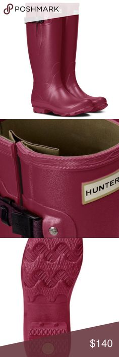 Norris field hunter adjustable rain boots New in box US size 8, euro 39 color is raspberry Hunter Shoes Winter & Rain Boots