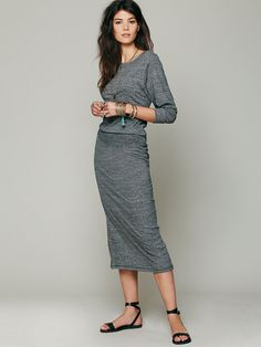Nightcap Recycled Jersey Lounge Dress at Free People Clothing Boutique
