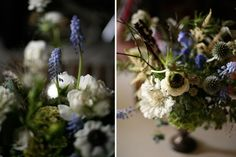 A stunning way to make blue work for flowers!
