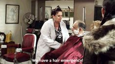 Hair emergency.