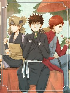 Kankuro, Gaara and Temari