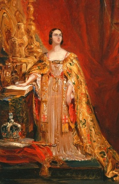 Queen Victoria 1819-1901 Taking the Coronation Oath.  Artist Sir George Hayter via The Fuller View.