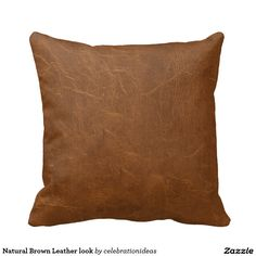 Sold. #Natural #Brown #Leatherlook #Pillows There are in different products too. Check more at www.zazzle.com/celebrationideas
