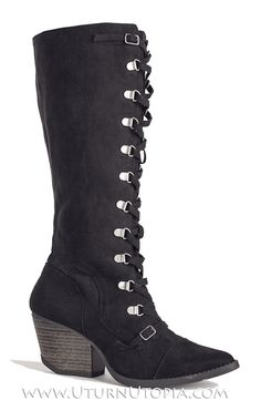 fd4e4a8c9876 Available   UturnUtopia.com Black Velvet Lace Up knee High Steampunk Boots  Victorian Retro Gothic