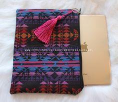clutch bag, bohemian clutch bag, ethnic clutch bag, tribal clutch bag, iPad cover