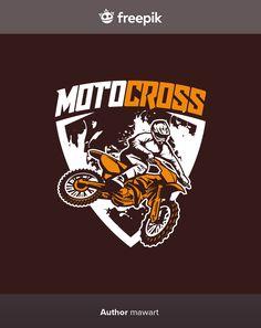 Moto Cross Logo Vector