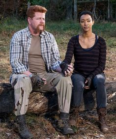 """"""" Sasha Williams and Abraham Ford in The Walking Dead Season 7 Episode 16    The First Day of the Rest of Your Life """" R.I.P Sasha Williams"""